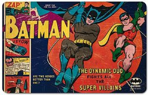 Batman And Robin Dynamic Duo Single Chopping Board/ Placemat 240mm x 140mm (lsh)